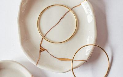 Nuestros platos de porcelana y oro